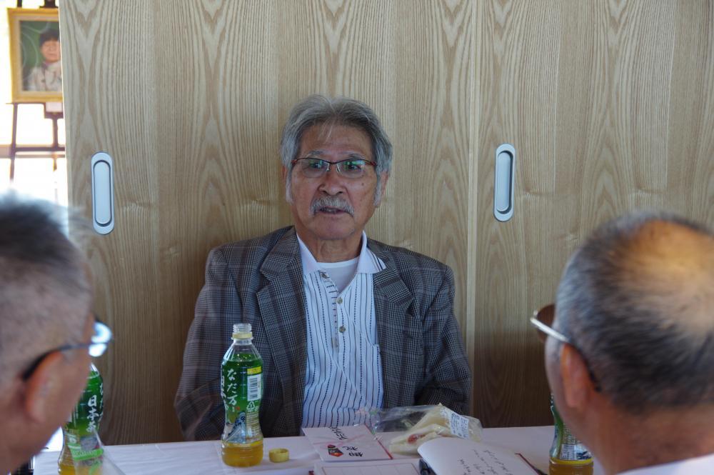 初日から多くの来場がありました。齊藤先生の旧友も訪れ、旧交を温められていました。